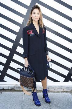 Miroslava Duma - Louis Vuitton Spring 2017 Ready-to-Wear Front Row Celebrity Photos - Vogue