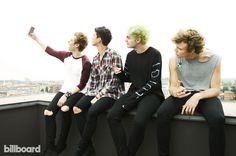 Calum Hood, Michael Clifford, Luke Hemmings and Ashton Irwin of 5 Seconds of Summer photographed on June 29, 2014 at the Radisson Blu Hotel in Milan.