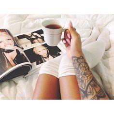 Earl grey   Lady GagaxTerry Richardson ☕️📔 #comfy #tattoo #ladygaga