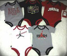 Nike Jordan Baby Boy 5 piece Onesies Bodysuits outfit  9-12 Months retail $60