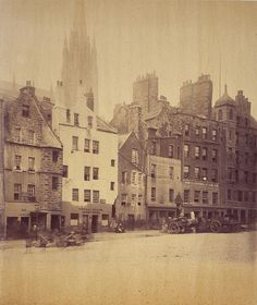 William Donaldson Clark - The Grassmarket, Old Town, Edinburgh, Old Town Edinburgh, Visit Edinburgh, Edinburgh Castle, Edinburgh Scotland, The Second City, Vintage Photographs, Vintage Images, The Life, Glasgow