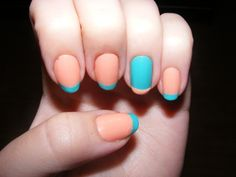 I love the idea of doing a color switch between the base and the tip, but I wouldn't choose these colors. -SvH