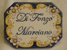 Targa ceramica personalizzata con decoro artesanum com