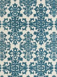 Ikat Blue Hand-Tufted Rug  - mylusciouslife.com - Luscious patterns