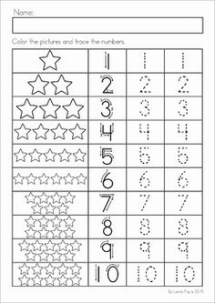 Christmas Nativity Preschool Math and Literacy No Prep worksheets and activities. A page from the unit: number tracing