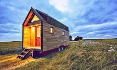 Odyssée – A French Tiny House on Wheels for Three by Baluchon. This contemporary tiny house on wheels acts as a home for a family of three. It's been designed as a comfortable minimalist home for those that wish to wan