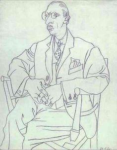 Picasso - Portrait de Igor Strawinsky