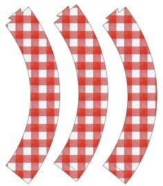 Cupcake Wrappers: Red Check