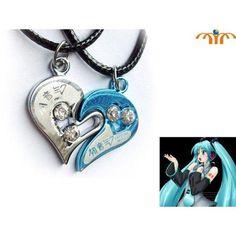 Miku Hatsune Japanese Anime Necklace Heart