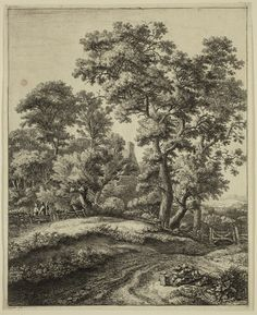 Anthonie Waterloo, Mother and Her Three Children Resting by the Roadside, 17th Century, Etching and drypoint printed in black on laid paper . Detroit Institute of Arts.