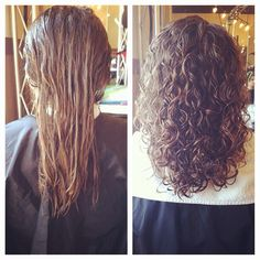 beautiful perm before and after -- long hair