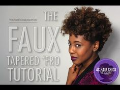 The Faux Tapered 'Fro Cut Tutorial [4cHairChick Vlogger] I love the outcome this just takes time!