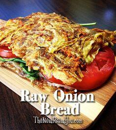 Tomato Sandwich on Raw Onion Bread - Fit And Fresh Life Raw Vegan Recipes, Veggie Recipes, Vegetarian Recipes, Healthy Recipes, Vegan Meals, Healthy Breads, Alkaline Recipes, Vegan Raw, Vegan Vegetarian
