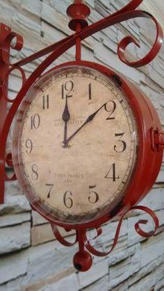antique clock details relgio de parede estao vintage retr lindo