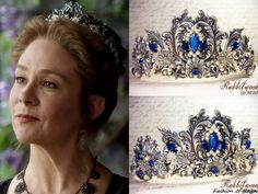 """the CW's Reign Fashion & Style In the episode (""""Leaps of Faith"""") Queen Catherine wears this Rabbitwood & Reason 'The Renaissance Mermaid Princess' Tiara. Reign Catherine, Reign Mary, Mary Queen Of Scots, Princess Tiara, Mermaid Princess, Reign Fashion, Royal Fashion, Reign Hairstyles, Reign Tv Show"""