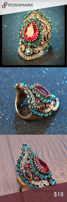 Spotted while shopping on Poshmark: *NEW* Gorgeous Indian style ring! #poshmark #fashion #shopping #style #Jewelry