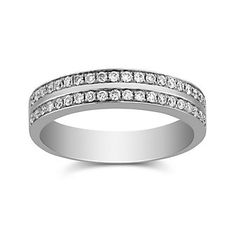 18K White Gold Round Channel Set Diamond Band, 0.35 cttw  2ABDD1392 | Borsheims Fine Jewelry & Gifts 800-642-GIFT