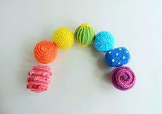 Montessori sensory balls / Waldorf crochet toy / Baby development toys / Toddler activity crochet rattle montessori baby toys Crochet Ball, Crochet Toys, Organic Baby Toys, Montessori Baby Toys, Newborn Toys, Rainbow Crochet, Developmental Toys, Baby Shower, Waldorf Toys