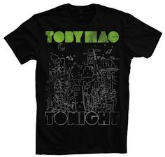 Tobymac Tonight and other artist B has seen in concert T-shirts for room art stretched on canvas