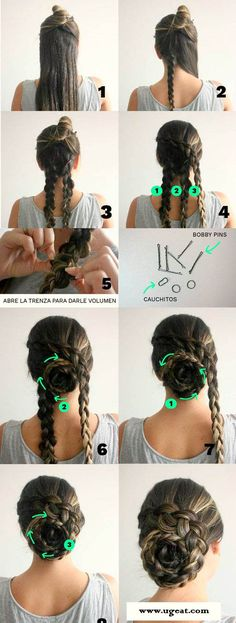 Look difficult? No, it's actually easy. Amazing braids tutorial. For long hair and black & brown hair