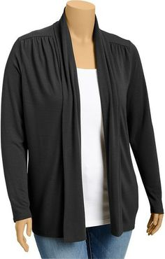 Old Navy Women's Plus Open-Front Jersey Cardis on shopstyle.com