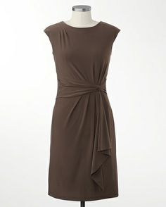 Shapely sashed knit dress -Nice dress, but not crazy about the color for October.