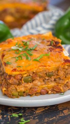 Could try lasagna noodles instead of tortilla's; Taco Lasagna is full of flavors, cheesy and delicious. This is the perfect combination of Mexican inspired ingredients, put in a traditional lasagna dish. Carnitas, Barbacoa, Mexican Dishes, Mexican Food Recipes, Beef Recipes, Cooking Recipes, Mexican Stew, Mexican Cooking, Chicken Recipes