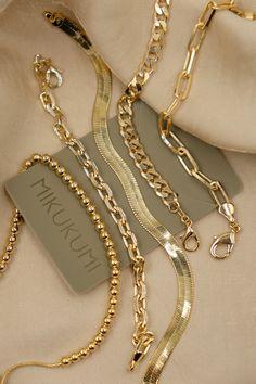18K Gold Filled Link Chain Bracelets