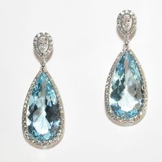 554afdf80 Mark Patterson Aquamarine and Diamonds Earrings from the Aura Collection.