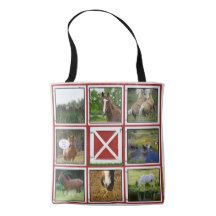 Red Barn Door Custom Photo Tote Bag Horse - ranch gifts style nature home diy Horse Gifts, Gifts For Horse Lovers, Horse Ranch, Red Gifts, Horse Photos, Edge Design, Custom Photo, Horse Horse, Horses