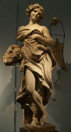 Gian Lorenzo Bernini. Modelo para uno de los ángeles de la Cathedra Petri. Pinacoteca Vaticana.