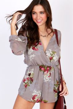 She Blossoms Floral Romper Multi