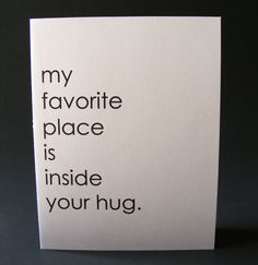 Inside your hug  note card by papersoulstudios on Etsy, $2.25