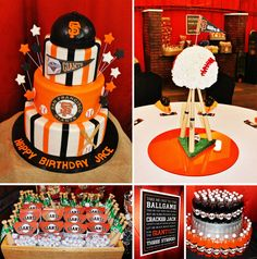 Giants Themed Baseball Birthday Party