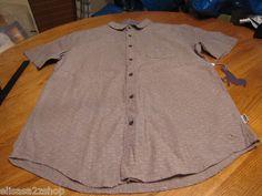 Men's Modern Amusement button up shirt CROW RARE Short sleeve L black faded NEW