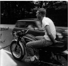 Steve McQueen on his motorcycle, late 1960's.