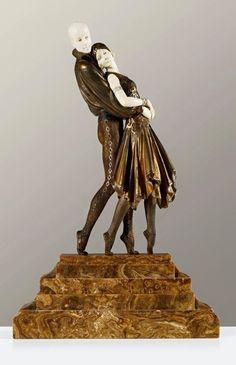 The Tango, by Demetre Chiparus, 1930. Gracias, astuto sobrino mío, por compartir.