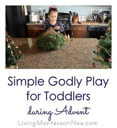 Toddlers can join in with Godly Play activities during Advent if you simply have a Nativity set - Living Montessori Now Christmas Activities For Kids, Kids Christmas, Godly Play, The Good Shepherd, Montessori, Advent, Nativity, Toddlers, Join