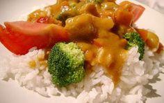 Receita vegetariana para Bimby: caril de legumes