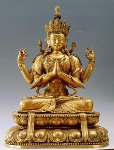 戲石游藝: 中國漢式與藏傳金銅佛像(三) Buddha Life, Buddha Art, Tibetan Art, Tibetan Buddhism, Nepal Art, Vajrayana Buddhism, Buddhist Philosophy, Buddha Sculpture, Religious Icons