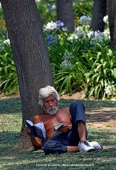 Lectura al aire libre. Outdoor Reading.
