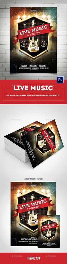 Live Concert Flyer Template V  Concert Flyer And Flyer Template
