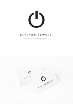 Huisstijl Elektro Dewulf (Design by Charlotte Hertsens Design)