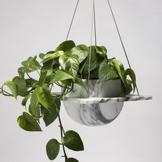 Roberta - Hanging plant pot - 250 x 250 x 150mm Marmo domestico — Bloc studios designed by Thevoz—Choquet Salone del mobile 2015 @BlocStudios