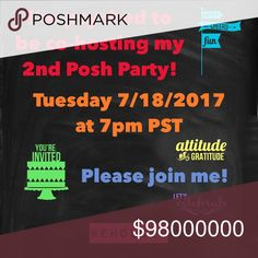 SAVE THE DATE 🎉🍾🎊Tuesday 7/18/2017 at 7pm PST Looking forward to hosting! As soon as the theme is announced, please feel free to tag me on listings that match the theme. Thank you! ❤️Elizabeth @eholder Other