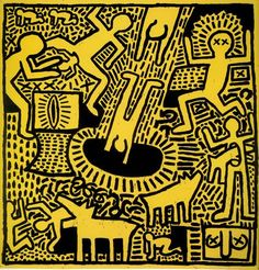 The public has a right to art. Art is for everybody. Keith Haring Untitled, 1981