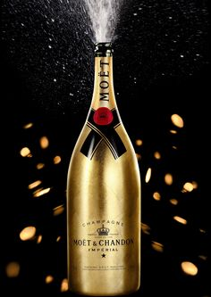 Limited Edition Moët & Chandon Jeroboam Champagne all Wrapped Up in Gold