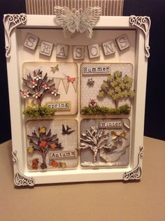 Shadow box frame by Marina Hopkinson using pieces from Fernlidesigns,com