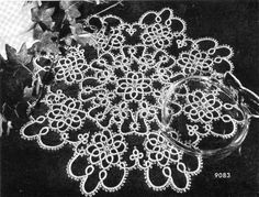 Tatting PATTERN for a Lovely Tatted Doily  7083 by BlondiesSpot