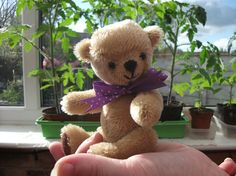 Violet 5 inch mohair artist bear by Bedlambears on Etsy, £40.00